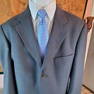 Hugo Boss 100% Wool Blazer Gray Pin Strips